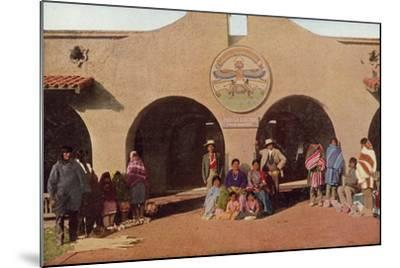 Indian Building, Albuquerque, New Mexico--Mounted Photographic Print