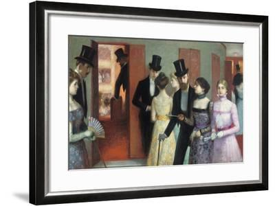 Soiree at the Opera, C.1900-Ernest Rouart-Framed Giclee Print