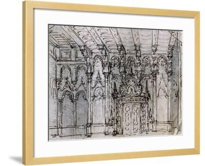 Set Design-Pietro Bertoja-Framed Giclee Print