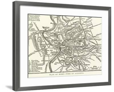Plan of Rome, Time of Augustus--Framed Giclee Print