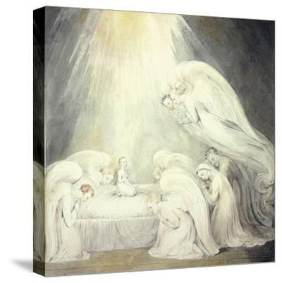 The Infant Jesus Saying His Prayers, C.1805-William Blake-Stretched Canvas Print