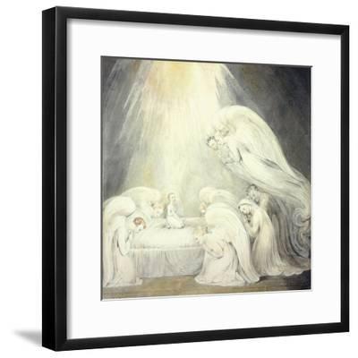 The Infant Jesus Saying His Prayers, C.1805-William Blake-Framed Giclee Print