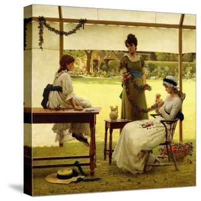 The Garland-George Dunlop Leslie-Stretched Canvas Print