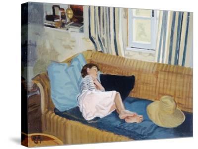 Asleep on the Sofa, 1998-Gillian Furlong-Stretched Canvas Print