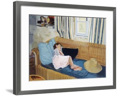 Asleep on the Sofa, 1998-Gillian Furlong-Framed Giclee Print