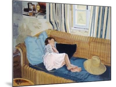 Asleep on the Sofa, 1998-Gillian Furlong-Mounted Giclee Print
