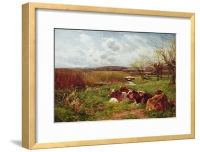 In the Meadow-Charles James Adams-Framed Giclee Print