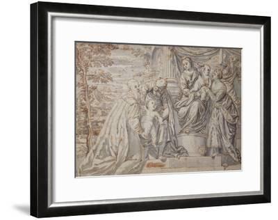 Figures on a Terrace--Framed Giclee Print