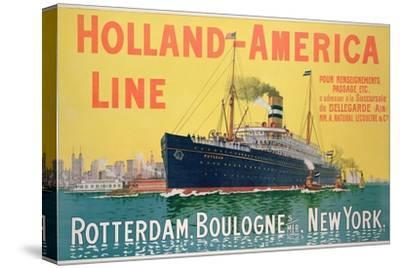 Poster Advertising 'Holland-America Line'-French School-Stretched Canvas Print