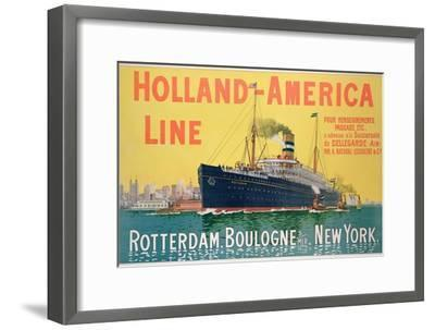 Poster Advertising 'Holland-America Line'-French School-Framed Premium Giclee Print