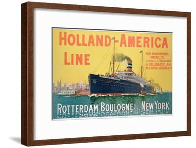 Poster Advertising 'Holland-America Line'-French School-Framed Giclee Print