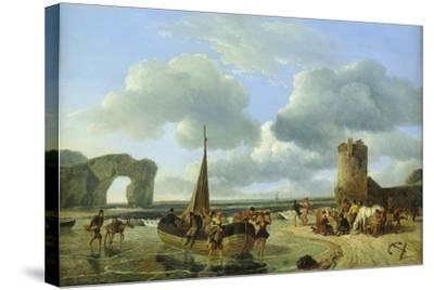 Coastal Scene-Jean Louis De Marne-Stretched Canvas Print