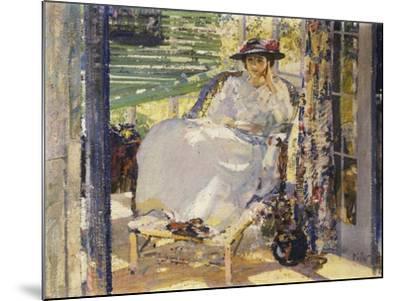 In the Sunroom-Richard Edward Miller-Mounted Giclee Print
