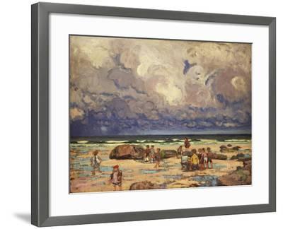 Children on the Beach, C.1910-William Samuel Horton-Framed Giclee Print