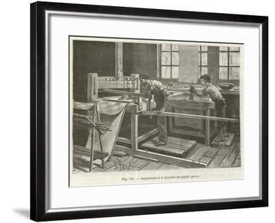 Printing Wallpaper--Framed Giclee Print