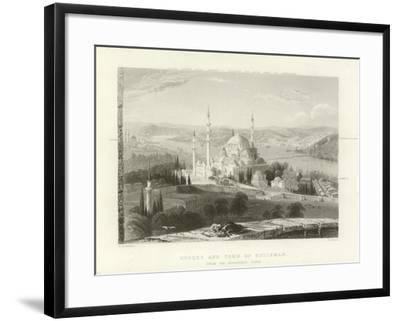 Mosque and Tomb of Suleiman, Constantinople-William Henry Bartlett-Framed Giclee Print