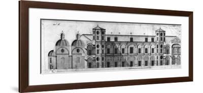 Longitudinal Section of Royal Casino of Persano--Framed Giclee Print