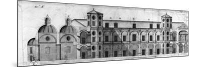 Longitudinal Section of Royal Casino of Persano--Mounted Giclee Print