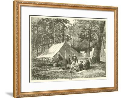 In Camp, July 1863--Framed Giclee Print