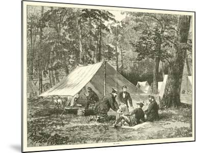 In Camp, July 1863--Mounted Giclee Print