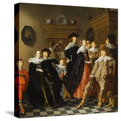 An Elegant Family in an Interior-Jan Olis-Stretched Canvas Print