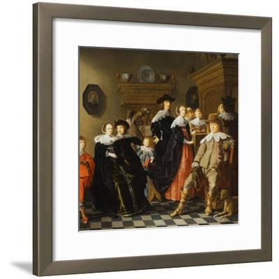 An Elegant Family in an Interior-Jan Olis-Framed Giclee Print