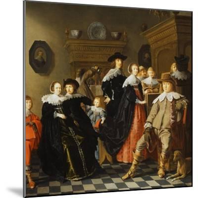 An Elegant Family in an Interior-Jan Olis-Mounted Giclee Print