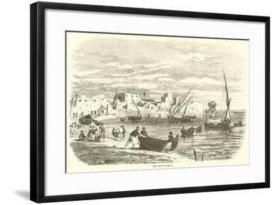 The Port of Tyre--Framed Giclee Print