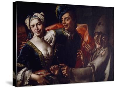 Neapolitan Masks-Giuseppe Bonito-Stretched Canvas Print