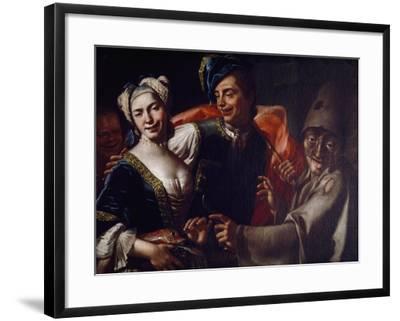 Neapolitan Masks-Giuseppe Bonito-Framed Giclee Print