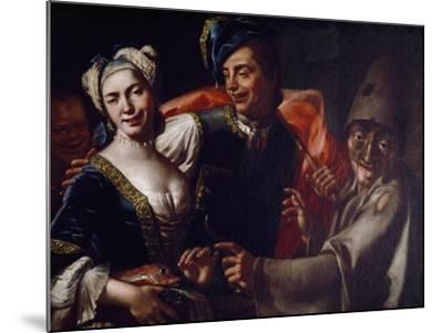 Neapolitan Masks-Giuseppe Bonito-Mounted Giclee Print