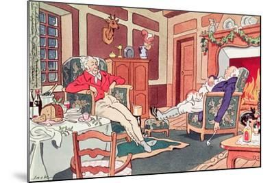 After Christmas Lunch--Mounted Giclee Print