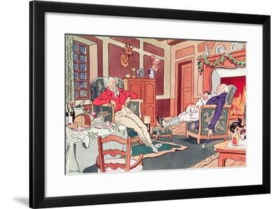 After Christmas Lunch--Framed Giclee Print