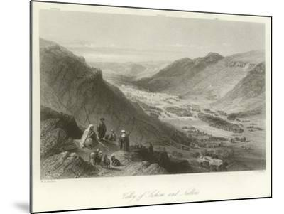 Valley of Sichem and Nablus, Palestine-William Henry Bartlett-Mounted Giclee Print