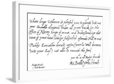 Ralph Brook--Framed Giclee Print