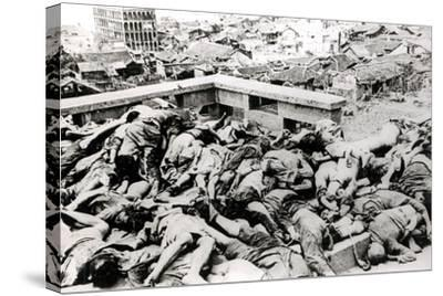 Victims of the Japanese Air Raid, Chungking, 1940--Stretched Canvas Print