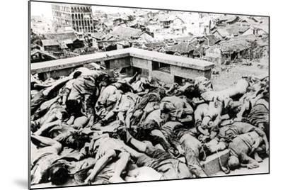 Victims of the Japanese Air Raid, Chungking, 1940--Mounted Photographic Print