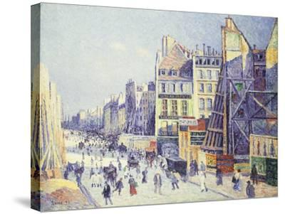 La Rue Reaumur, 1897-Maximilien Luce-Stretched Canvas Print