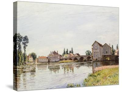 The Loing Below the Pont De Moret, 1892-Alfred Sisley-Stretched Canvas Print