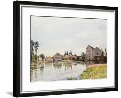 The Loing Below the Pont De Moret, 1892-Alfred Sisley-Framed Giclee Print