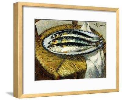 The Dish of Mackerels, C.1923-Gustave Loiseau-Framed Giclee Print