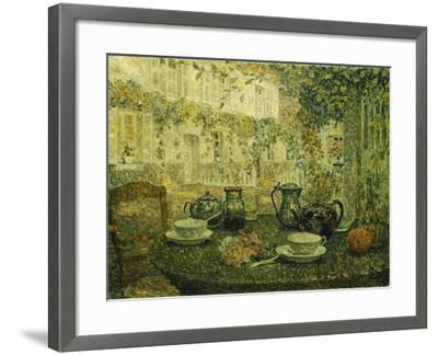 The Stone Table; Le Table De Pierre, 1919-Henri Eugene Augustin Le Sidaner-Framed Giclee Print