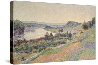 The Seine at Herblay, 1890-Maximilien Luce-Stretched Canvas Print