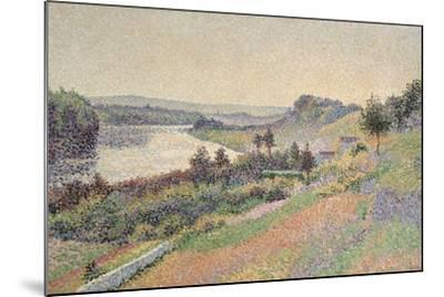 The Seine at Herblay, 1890-Maximilien Luce-Mounted Giclee Print