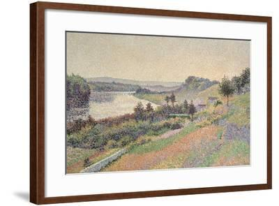 The Seine at Herblay, 1890-Maximilien Luce-Framed Giclee Print