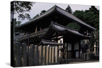 Nigatsu-Do Hall from the Todai-Ji Complex in Nara--Stretched Canvas Print