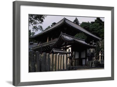 Nigatsu-Do Hall from the Todai-Ji Complex in Nara--Framed Photographic Print