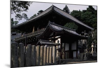 Nigatsu-Do Hall from the Todai-Ji Complex in Nara--Mounted Photographic Print