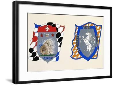 Coats of Arms for Palio of Siena for Istrice--Framed Giclee Print