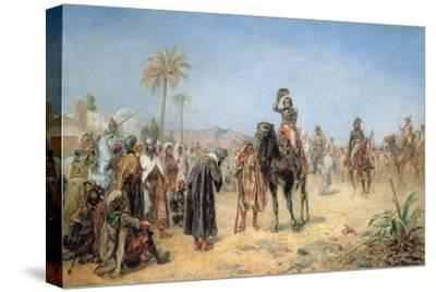 Napoleon Arriving at an Egyptian Oasis-Robert Alexander Hillingford-Stretched Canvas Print